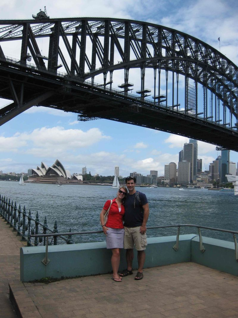 Austraila Sydney Harbor and bridge