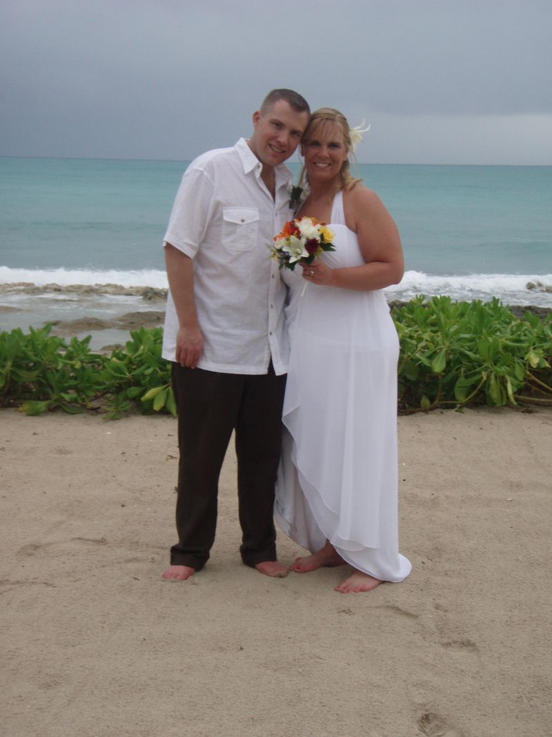 Krisha vow renewal on beach
